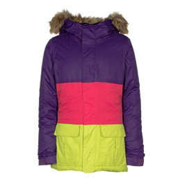 686 Polly Insulated Girls Snowboard Jacket, Violet Colorblock, 256