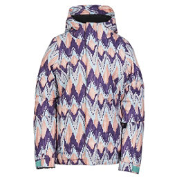 686 Flora Insulated Girls Snowboard Jacket, Violet Ikat, 256
