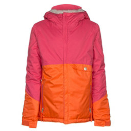 686 Wendy Insulated Girls Snowboard Jacket, Coral Colorblock, 256