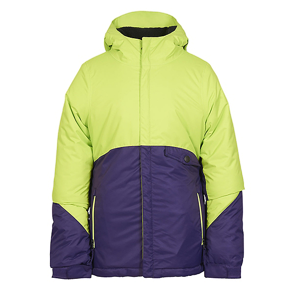 686 Wendy Insulated Girls Snowboard Jacket, Violet Colorblock, 600