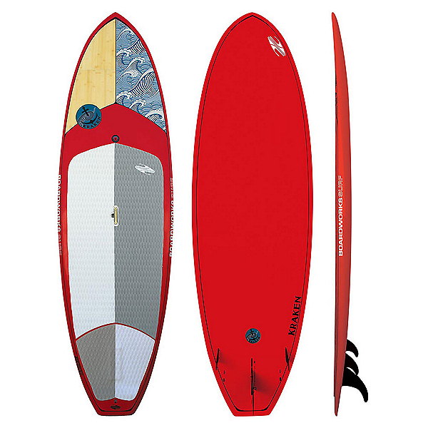 Boardworks Surf Kraken 9'3 Stand Up Paddleboard, Wood-Red, 600
