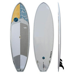 Boardworks Surf Kraken 9'3 Stand Up Paddleboard, Wood-Light Gray, 256