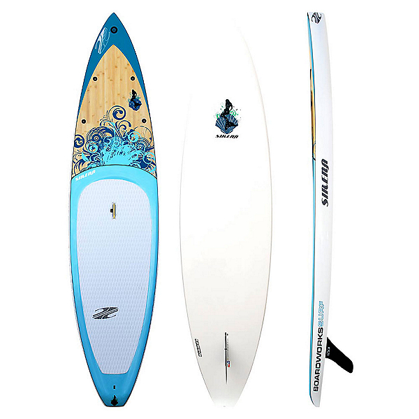 Boardworks Surf Sirena 10'6 Touring Stand Up Paddleboard, Wood-Blue, 600