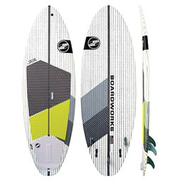 Boardworks Surf Special 7'4 Surf Stand Up Paddleboard, Grey-White, 256