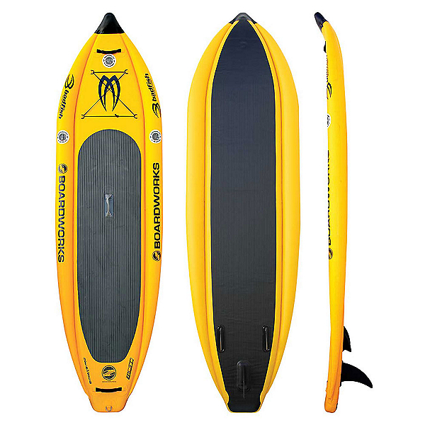Boardworks Surf MCIT 10'6 Inflatable Stand Up Paddleboard, Kodak Yellow, 600