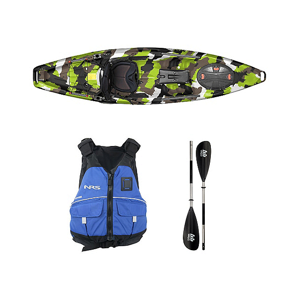 Feelfree Moken 10 Lime Camo Kayak - Sport Package, , 600