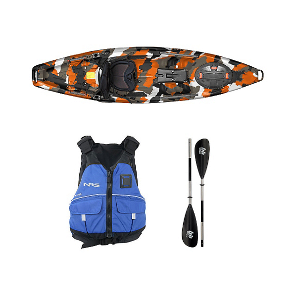 Feelfree Moken 10 Orange Camo Kayak - Sport Package, , 600