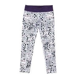 686 Serenity 1st Layer Girls Long Underwear Bottom, Grey Animal-Violet, 256