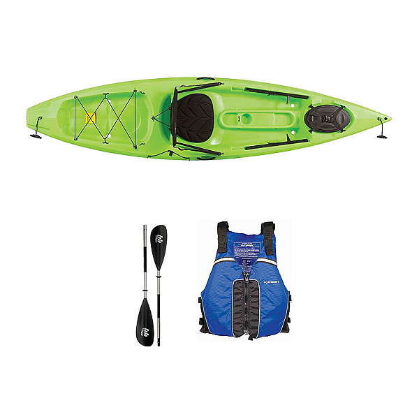Ocean Kayak Tetra 10 Envy Green Kayak - Sport Package, , 600