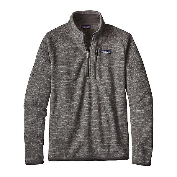 Patagonia Better Sweater 1/4 Zip Mens Mid Layer, Nickel, 600