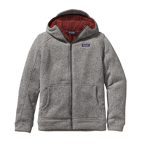 Patagonia Insulated Better Sweater Hoody Mens Jacket, Stonewash-Cinder Red, 600