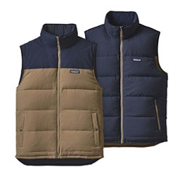 Patagonia Reversible Bivy Down Mens Vest, Ash Tan, 256