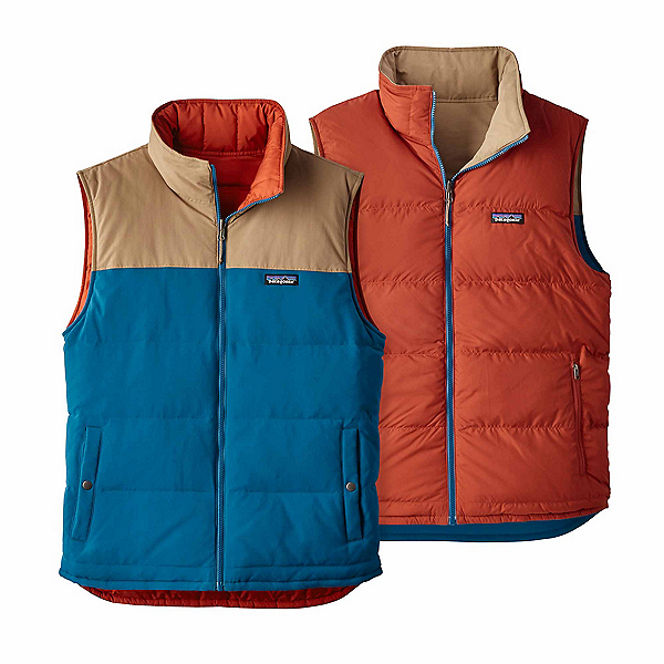Patagonia Reversible Bivy Down Mens Vest, Big Sur Blue, 600