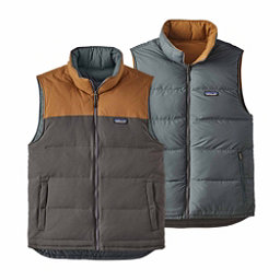 Patagonia Reversible Bivy Down Mens Vest, Forge Grey-Bear Brown, 256