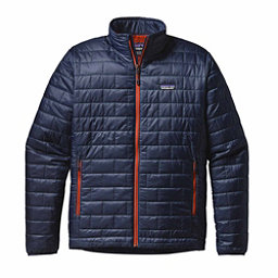 Patagonia Nano Puff Mens Jacket, Navy Blue-Paintbrush Red, 256