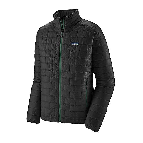 Patagonia Nano Puff Mens Jacket, Ink Black-Oak Grove Green, 600