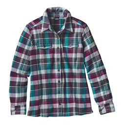 Patagonia Fjord Womens Flannel Shirt, Bay Laurel-Forge Grey, 256
