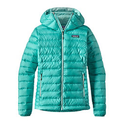 Patagonia Down Sweater Hoody Womens Jacket, Strait Blue, 256
