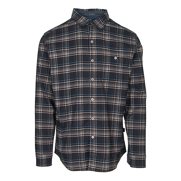 KUHL The Independent Mens Flannel Shirt, Rusted Blue, 600