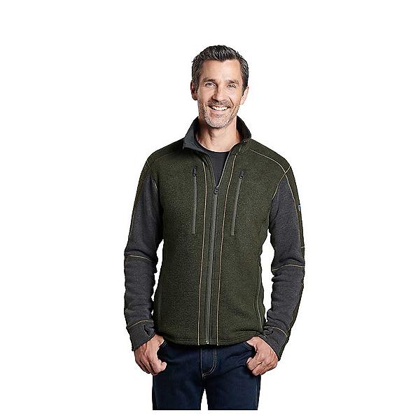 KUHL Interceptr Full Zip Mens Sweater, Loden-Steel, 600