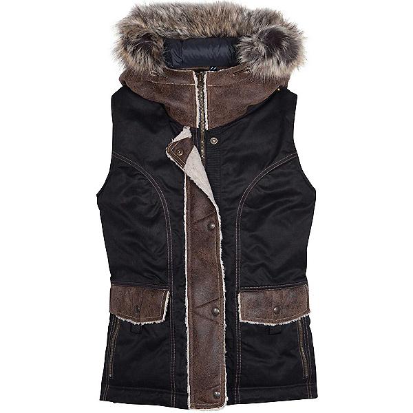 KUHL Arktik Down w/Faux Fur Womens Vest, Raven, 600