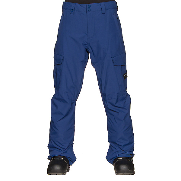 Quiksilver Porter Insulated Mens Snowboard Pants, Sodalite Blue, 600