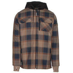 Quiksilver Connector Riding Mens Flannel Shirt, Flannel Elmwood, 256