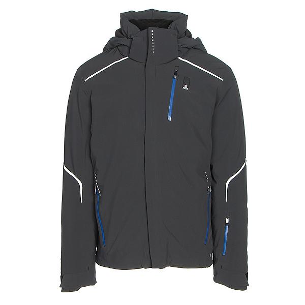 Salomon Whitelight Mens Insulated Ski Jacket, Black, 600