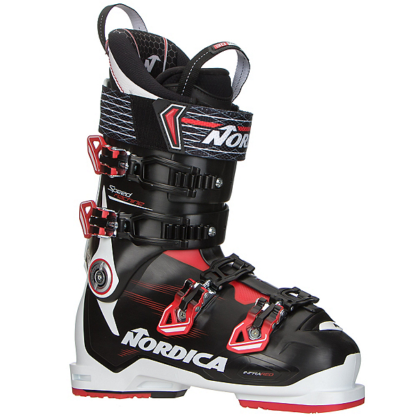 Nordica Speedmachine 120 Ski Boots, Black-Red-White, 600
