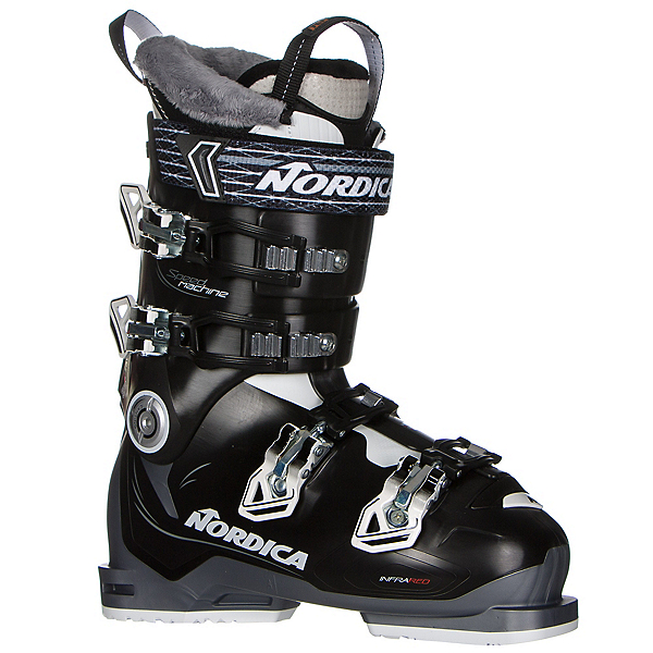Nordica Speedmachine 85 W Womens Ski Boots, Black-White-Anthracite, 600