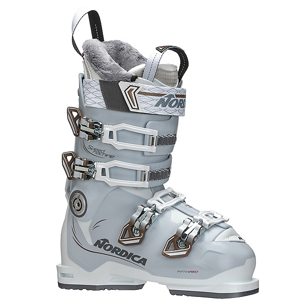 Nordica Speedmachine 85 W Womens Ski Boots 2018, White-Ice-Bronze, 600