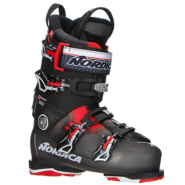 Nordica N-Move 120 Ski Boots, Black Transparent-Red, 600