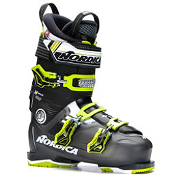 Nordica N-Move 100 Ski Boots, Black Transparent-Lime, 256
