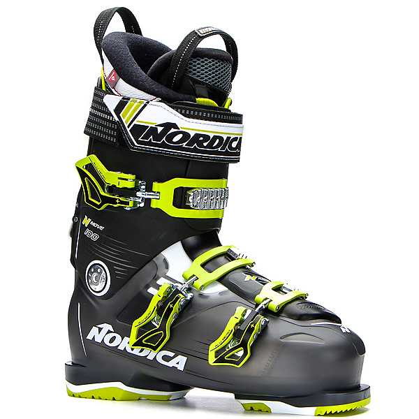 Nordica N-Move 100 Ski Boots, Black Transparent-Lime, 600