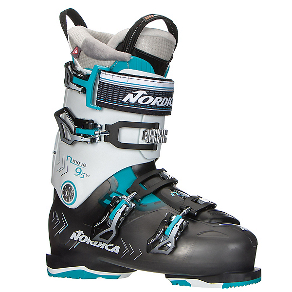 Nordica N-Move 95 W Womens Ski Boots, Black Transparent-White, 600