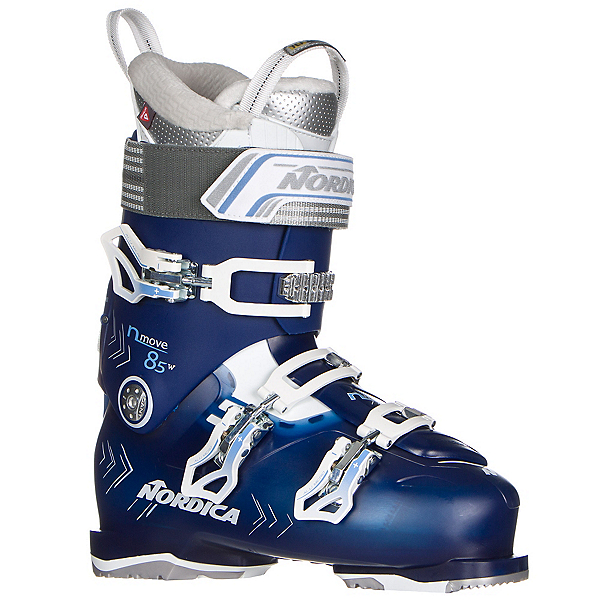 Nordica N-Move 85 W Womens Ski Boots 2017, Blue Transparent-White, 600