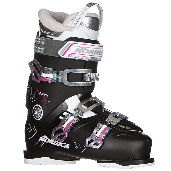 Nordica N-Move 75 W Womens Ski Boots, Black-Fuscia, 600