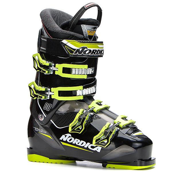 Nordica Cruise 80 Ski Boots, Black-Lime, 600