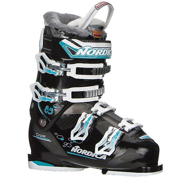 Nordica Cruise 85 W Womens Ski Boots, Black-Light Blue, 600