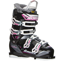 Nordica Cruise 75 W Womens Ski Boots 2018, Black-Fuscia, 256