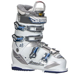 Nordica Cruise 55 W Womens Ski Boots 2018, White-Blue, 256
