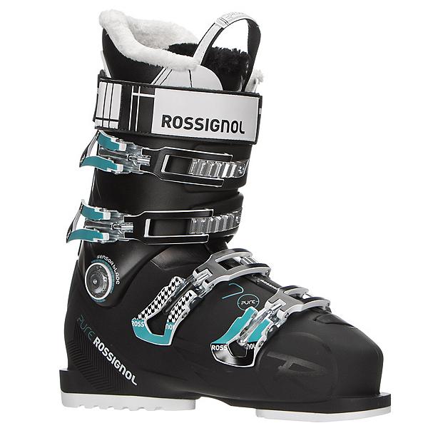 Rossignol Pure 70 Womens Ski Boots, Black-Blue, 600