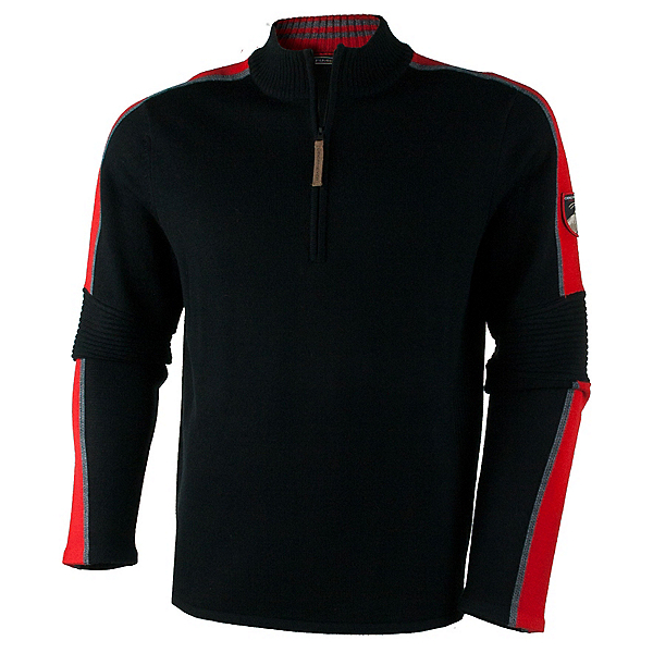 Obermeyer Vista 1/2 Zip Mens Sweater, Black, 600