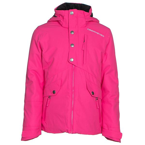 Obermeyer Kenzie Teen Girls Ski Jacket, Electric Pink, 600