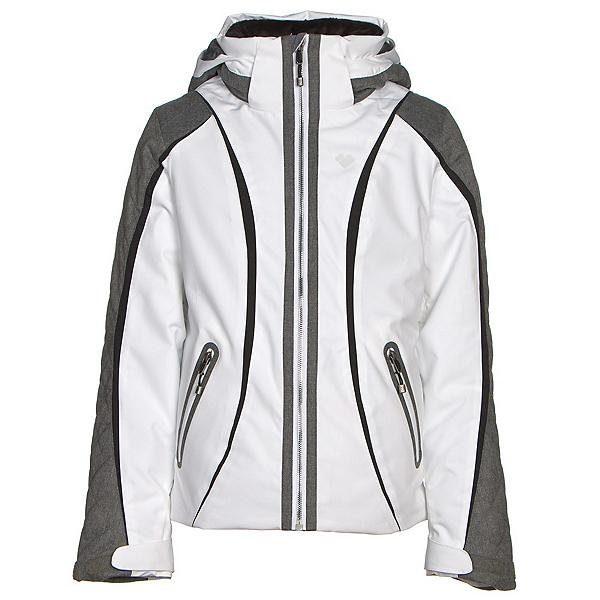 Obermeyer Dyna Teen Girls Ski Jacket, White, 600