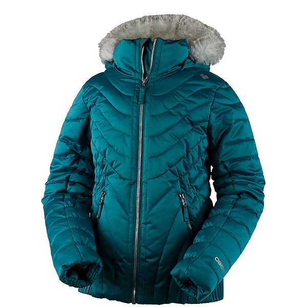 Obermeyer Aisha w/ Faux Fur Girls Ski Jacket, Rainforest, 600