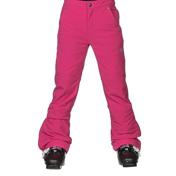 Obermeyer Jolie Softshell Teen Girls Ski Pants, Electric Pink, 600