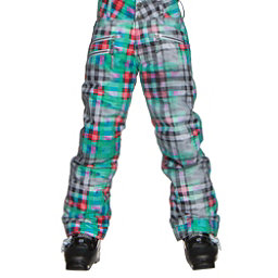 Obermeyer Jessi Teen Girls Ski Pants, Plaid Haze, 256