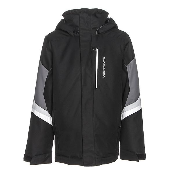 Obermeyer Fleet Teen Boys Ski Jacket, Black, 600