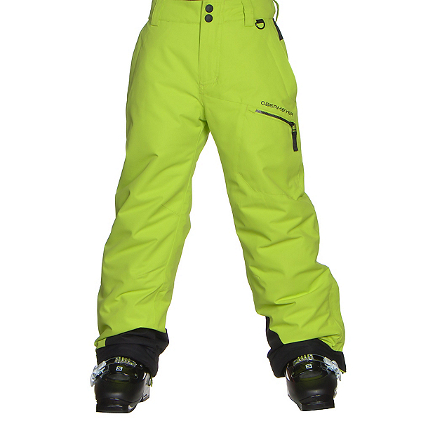 Obermeyer Brisk Teen Boys Ski Pants, Screamin Green, 600